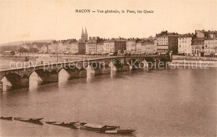 AK / Ansichtskarte Macon_Saone et Loire Pont sur la Saone et les quais Macon Saone et Loire 0