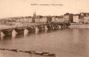AK / Ansichtskarte Macon_Saone et Loire Pont sur la Saone et les quais Macon Saone et Loire