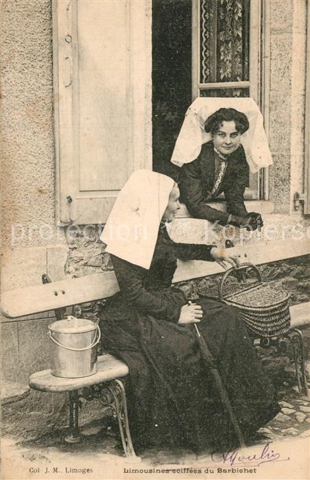 AK / Ansichtskarte Limoges_Haute_Vienne Limousines coiffees Costumes Trachten Limoges_Haute_Vienne 0