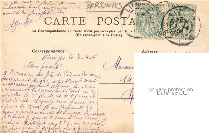 AK / Ansichtskarte Limoges_Haute_Vienne Limousines coiffees Costumes Trachten Limoges_Haute_Vienne 1