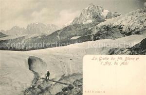 AK / Ansichtskarte Chamonix La Grotte du Mont Blanc Aiguille du Midi Alpes Chamonix