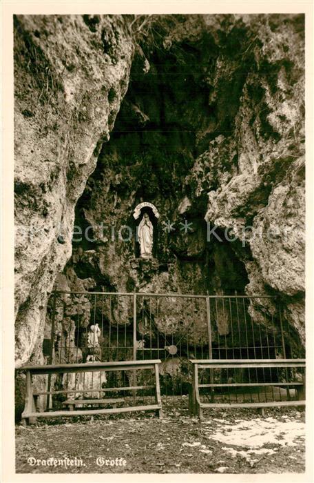 AK / Ansichtskarte Drackenstein_Goeppingen Grotte Heiligenfigur Schwaebische Alb Drackenstein_Goeppingen 0