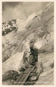 AK / Ansichtskarte Rhonegletscher_Glacier_du_Rhone Eisgrotte Rhonegletscher_Glacier