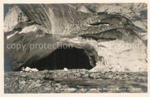 AK / Ansichtskarte Rhonegletscher_Glacier_du_Rhone Quelle der Rhone Source du Rhone Rhonegletscher_Glacier