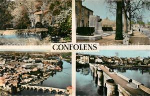 AK / Ansichtskarte Confolens Moulin du Goire Monument Emile Roux Pont Vieux Confolens