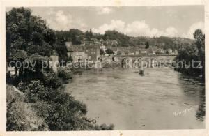 AK / Ansichtskarte Le_Bugue La Vezere et le pont vus des Coteux Le_Bugue