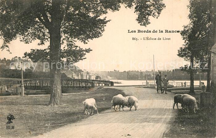 AK / Ansichtskarte Livet_Cote_d_Emeraude Ecluse de Livet Bords de la Rance des moutons  0