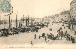 AK / Ansichtskarte Boulogne sur Mer Quai Gambetta Port Bateaux Boulogne sur Mer