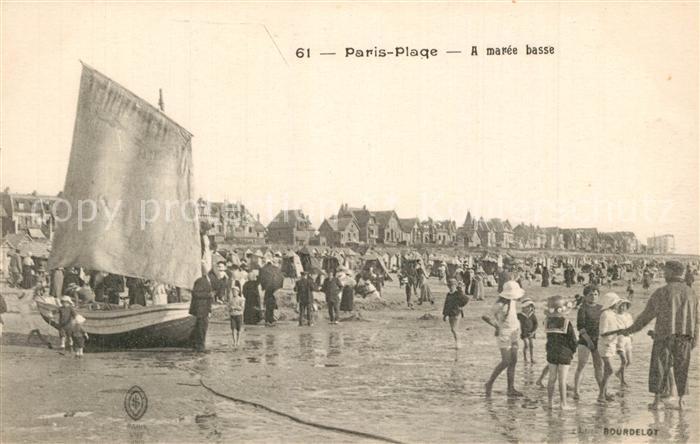 AK / Ansichtskarte Paris Plage La plage a maree basse Paris Plage 0