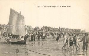 AK / Ansichtskarte Paris Plage La plage a maree basse Paris Plage