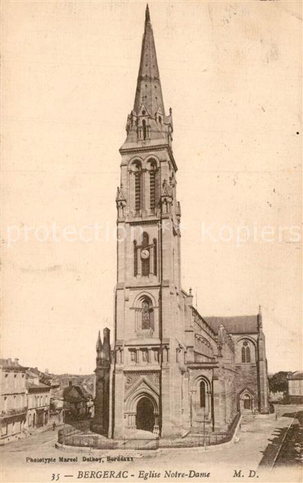 AK / Ansichtskarte Bergerac Eglise Notre Dame Bergerac 0