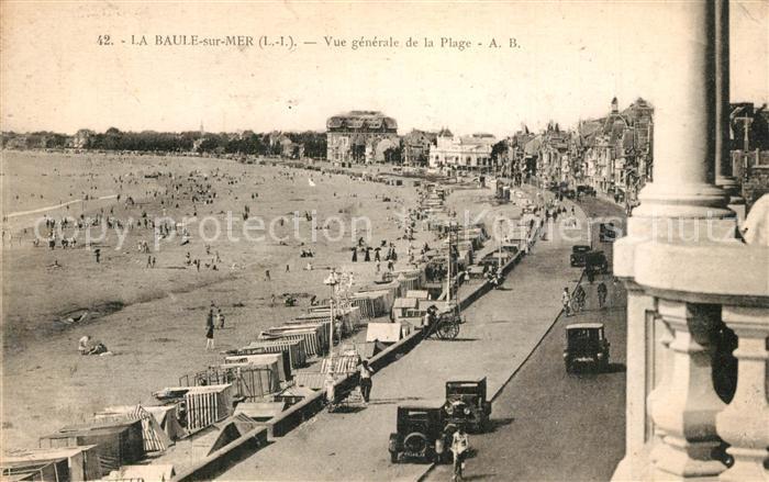 AK / Ansichtskarte La_Baule_sur_Mer Vue generale de la plage La_Baule_sur_Mer 0