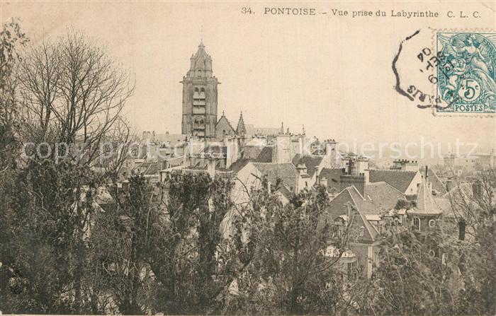 AK / Ansichtskarte Pontoise_Val d_Oise Vue prise du Labyrinthe  0