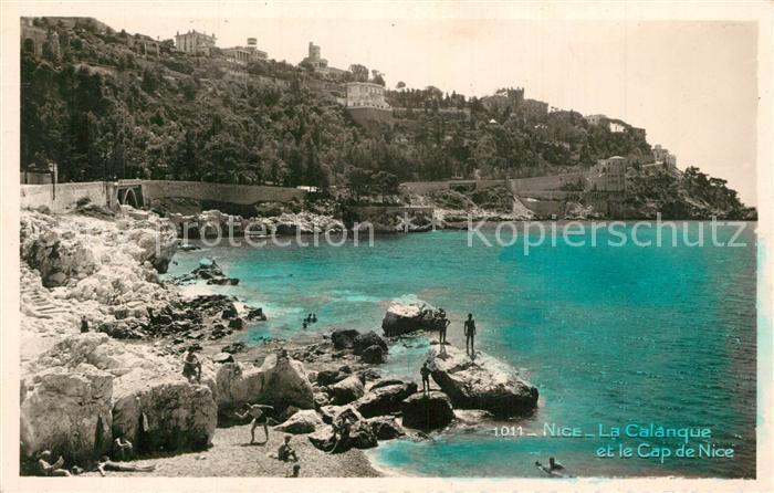 AK / Ansichtskarte Nice_Alpes_Maritimes La Calanque et Cap de Nice Nice_Alpes_Maritimes 0