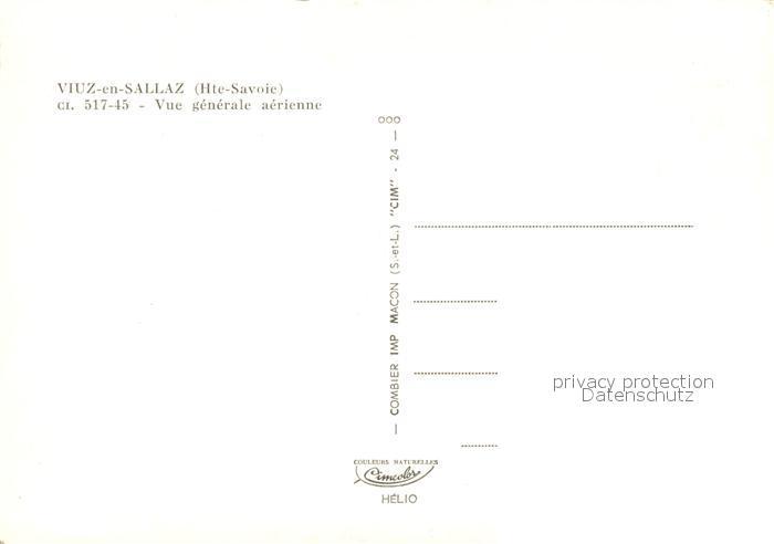 AK / Ansichtskarte Viuz en Sallaz Vue aerienne Viuz en Sallaz 1