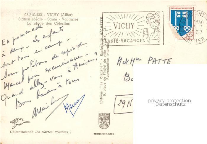 AK / Ansichtskarte Vichy_Allier Plage des Celestins Vichy Allier 1