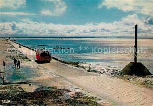 AK / Ansichtskarte Ile_de_Noirmoutier Passage du Gois arrivee dans l Ile Ile_de_Noirmoutier
