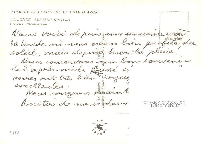 AK / Ansichtskarte La_Londe les Maures Avenue Clemenceau La_Londe les Maures 1
