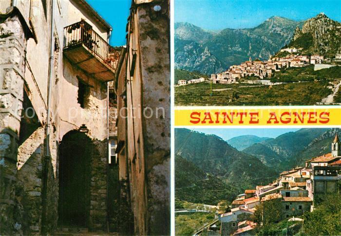 AK / Ansichtskarte Sainte Agnes_Nice Panorama Bergdorf Gasse Alte Haeuser Sainte Agnes Nice 0