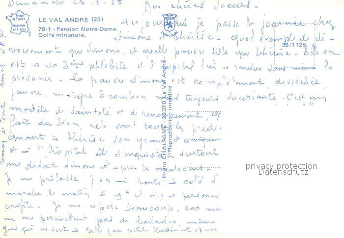 AK / Ansichtskarte Le_Val_Andre Pension Notre Dame Golfe miniature Le_Val_Andre 1