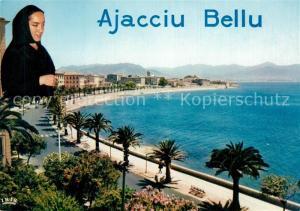 AK / Ansichtskarte Ajaccio Boulevard Lantivy avec ses palmiers et lauriers roses Ajaccio