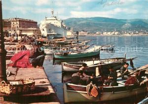 AK / Ansichtskarte Ajaccio Le port et M S Napoleon Bateaux de peche Ajaccio