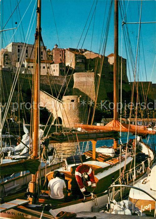 AK / Ansichtskarte Calvi Les voiliers amarres au quai de plaisance Citadelle Calvi 0