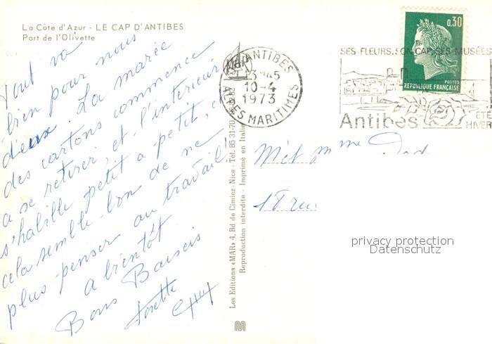 AK / Ansichtskarte Cap_d_Antibes Port de l Olivette Cap_d_Antibes 1