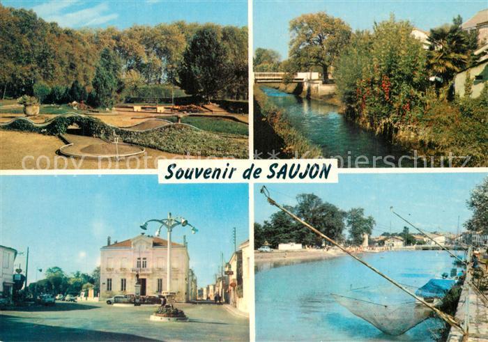 AK / Ansichtskarte Saujon Parc des Thermes Bords de la Seudre Mairie Port de Riberoux Saujon 0