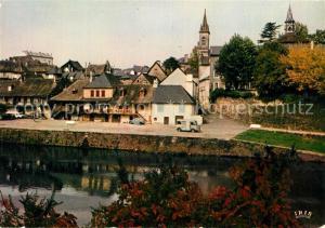 AK / Ansichtskarte Argentat Vieilles maisons au bord de la riviere Argentat