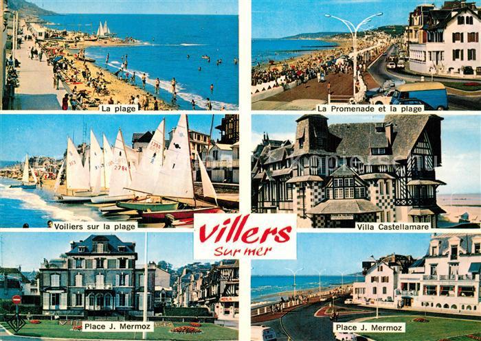 AK / Ansichtskarte Villers sur Mer Plage Promenade Voiliers Villa Castellamare Place Jean Mermoz Villers sur Mer 0
