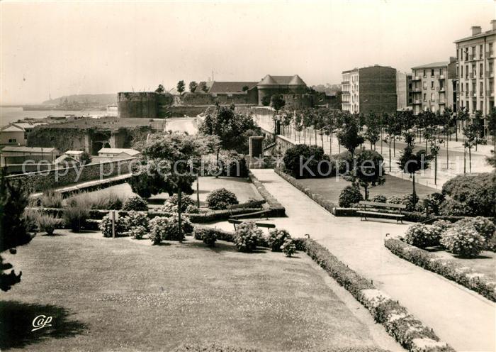 AK / Ansichtskarte Brest_Finistere Cours Dajot Chateau et la Rade Brest_Finistere 0