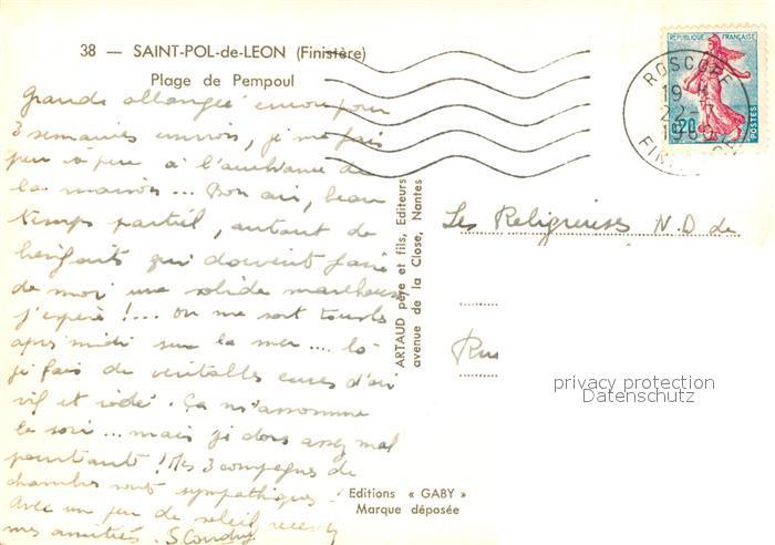 AK / Ansichtskarte Saint Pol de Leon Plage de Pempoul Saint Pol de Leon 1