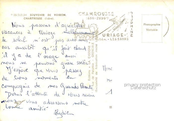 AK / Ansichtskarte Voiron La Grande Chartreuse Bouteille de liqueur Voiron 1