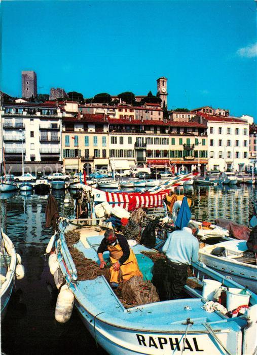 AK / Ansichtskarte Cannes_Alpes Maritimes Vieux port le Suquet Cote d Azur Cannes Alpes Maritimes 0