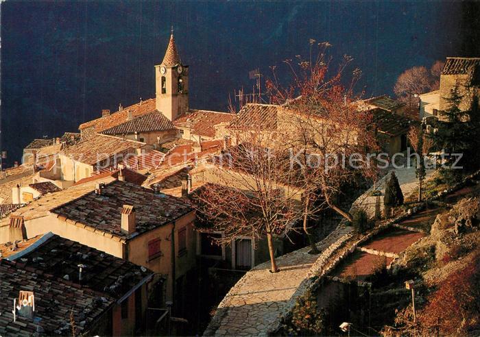 AK / Ansichtskarte Sainte Agnes_Nice Coucher de soleil sur le village Sainte Agnes Nice 0
