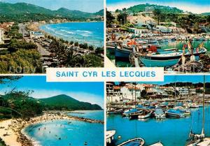 AK / Ansichtskarte Saint Cyr les Lecques Grande Plage Port de la Madrague Plage Port des Lecques Saint Cyr les Lecques