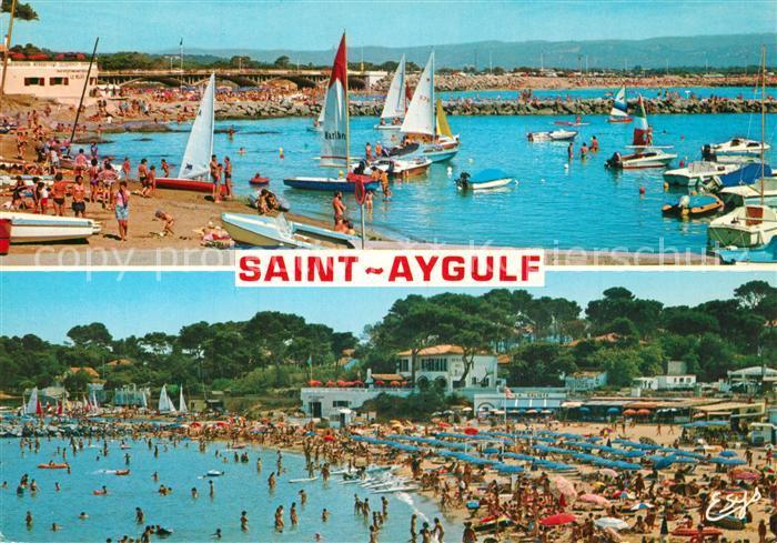 AK / Ansichtskarte Saint Aygulf_Var Le port et la plage Saint Aygulf Var 0