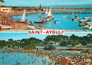 AK / Ansichtskarte Saint Aygulf_Var Le port et la plage Saint Aygulf Var