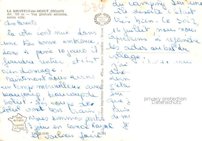 AK / Ansichtskarte La_Salvetat sur Agout Vue aerienne centre ville La_Salvetat sur Agout 1