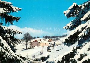 AK / Ansichtskarte Septmoncel Les Molunes Restaurant Le College en hiver Septmoncel