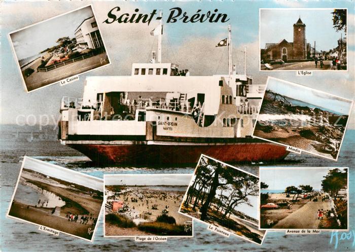 AK / Ansichtskarte Saint Brevin les Pins Casino Eglise Vapeur Ermitage Plage Pointeau Avenue de la Mer Saint Brevin les Pins 0