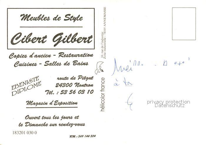 AK / Ansichtskarte Nontron Cibert Gilbert Meubles de Style vue aerienne Nontron 1