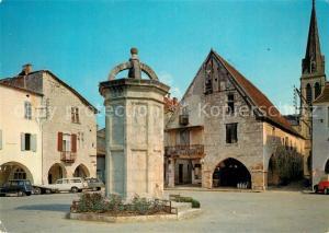 AK / Ansichtskarte Eymet Place Gambetta Maisons a galeries vestiges de l ancienne bastide Eymet
