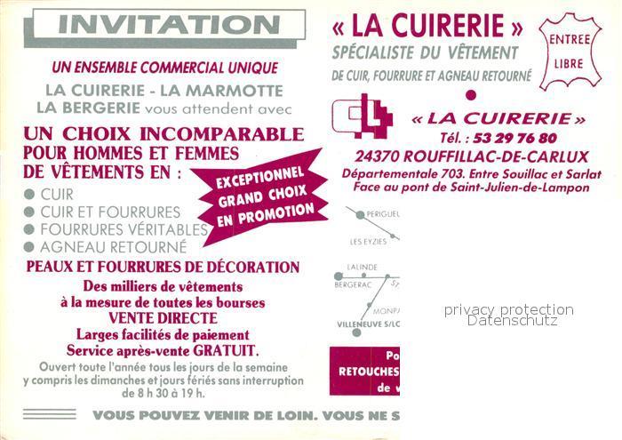 AK / Ansichtskarte Rouffilhac La Cuirerie Specialiste du Vetement Rouffilhac 1