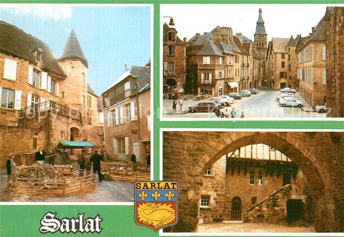 AK / Ansichtskarte Sarlat en Perigord Marche aux oies Place de la Liberte Impasse des Violettes Sarlat en Perigord 0