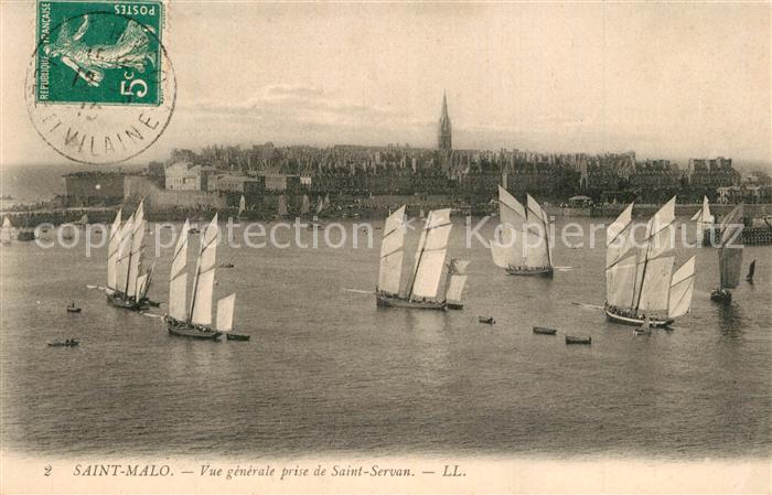 AK / Ansichtskarte Saint Malo_Ille et Vilaine_Bretagne Vue generale prise de Saint Servan Saint Malo_Ille et Vilaine 0