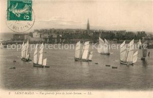 AK / Ansichtskarte Saint Malo_Ille et Vilaine_Bretagne Vue generale prise de Saint Servan Saint Malo_Ille et Vilaine
