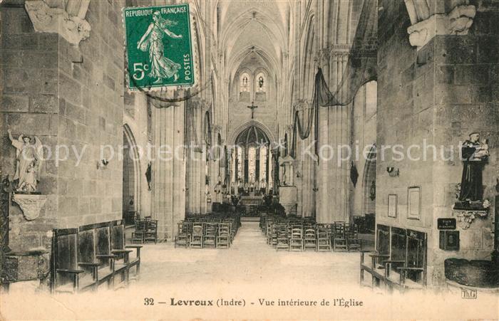 AK / Ansichtskarte Levroux Vue interieure de l eglise Levroux 0