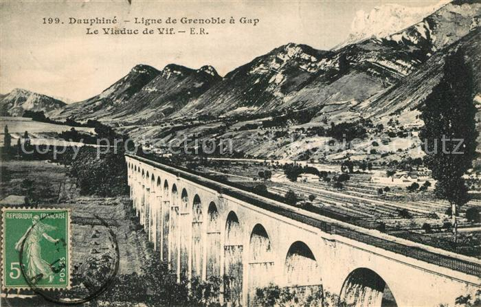 AK / Ansichtskarte Grenoble Viaduc Ligne de Grenoble a Gap Alpes Grenoble 0